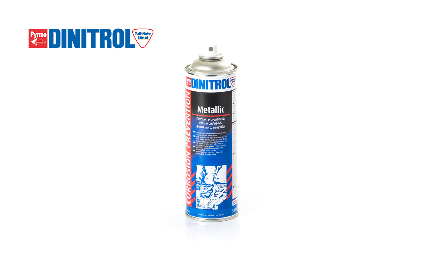 Dinitol metallic waxy brown car underseal product with good heat resistance ideal for highly corrosive conditions