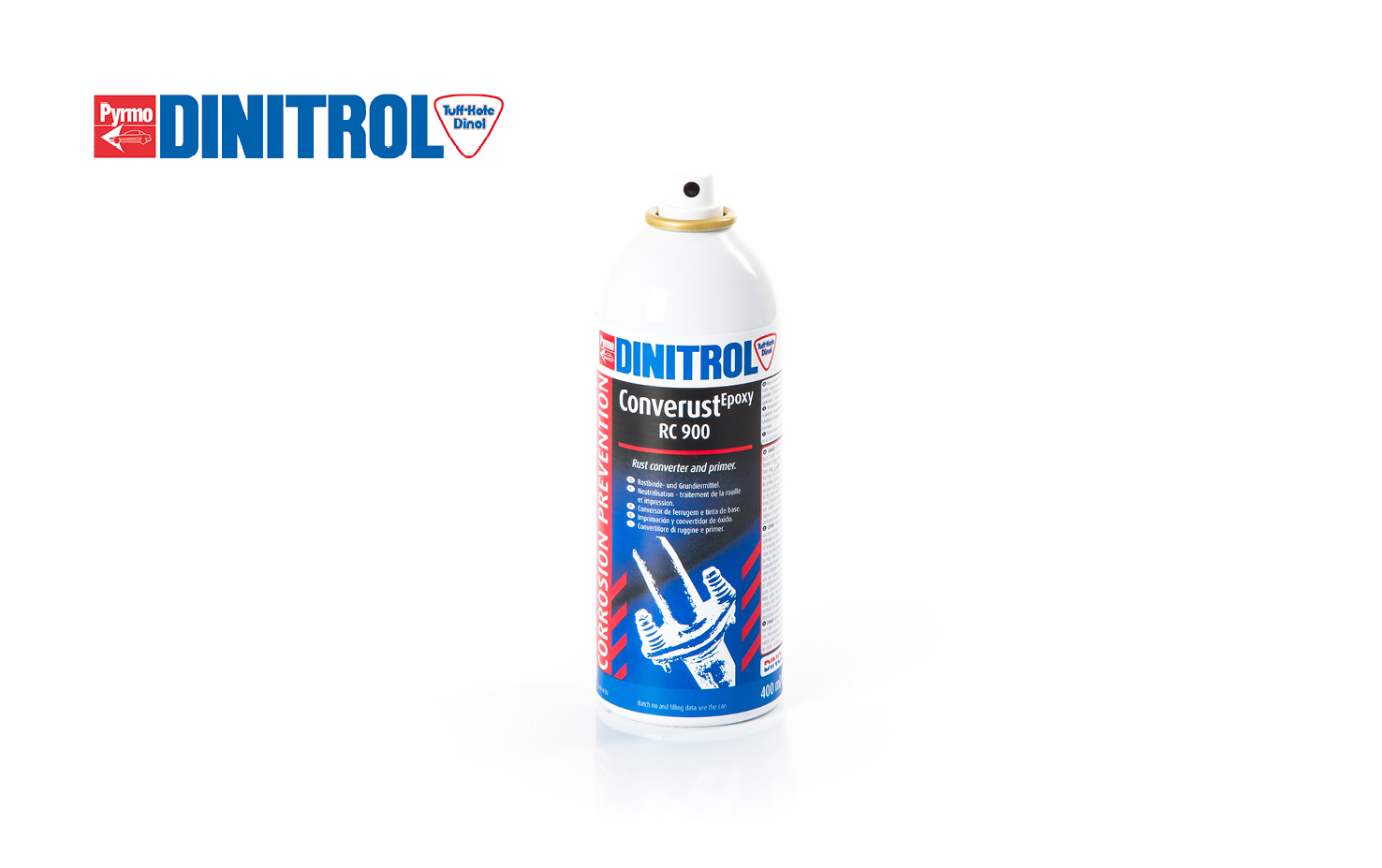 specialist rust remover and rust converter and primer buy DINITROL RC900 converts rust on substrates into a stable organic iron complex, classic car restoration