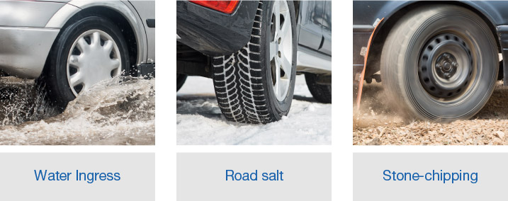 car rust proofing corrosion protection underbody chassis water ingress stone chipping road salt uk dinitrol rust prevention treatments