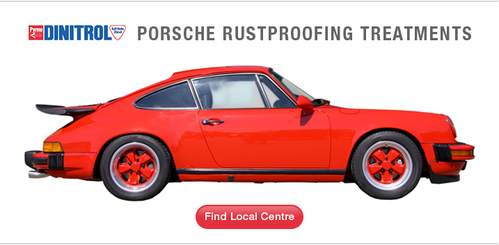 classic porsche restoration type 64 racing coupe rustproofing underbody chassis protection rust prevention dinitrol uk