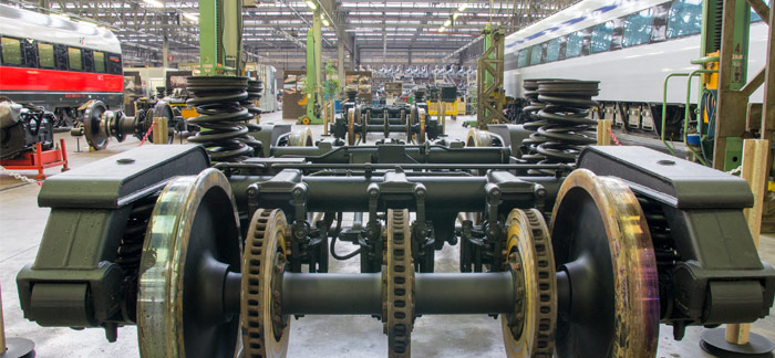 Railway carriages, train engines and carriages corrosion protection with rust prevention underbody chassis coating & rust treatments. OEM approved railway maintenance