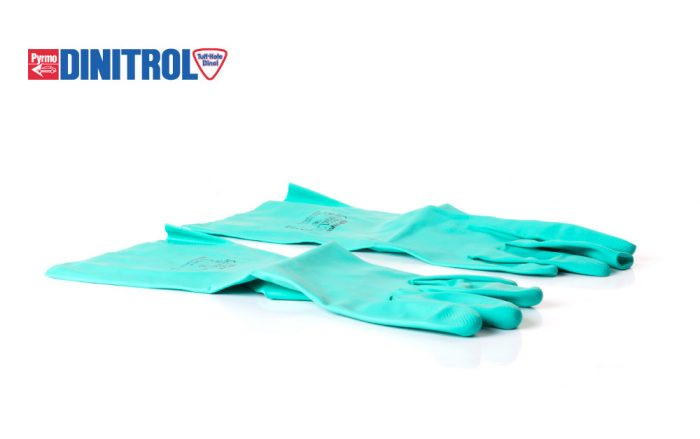 rust treatment dinitrol polyco nitri tech synthetic rubber gloves personal protection equipment DIY vehicle rustproofing