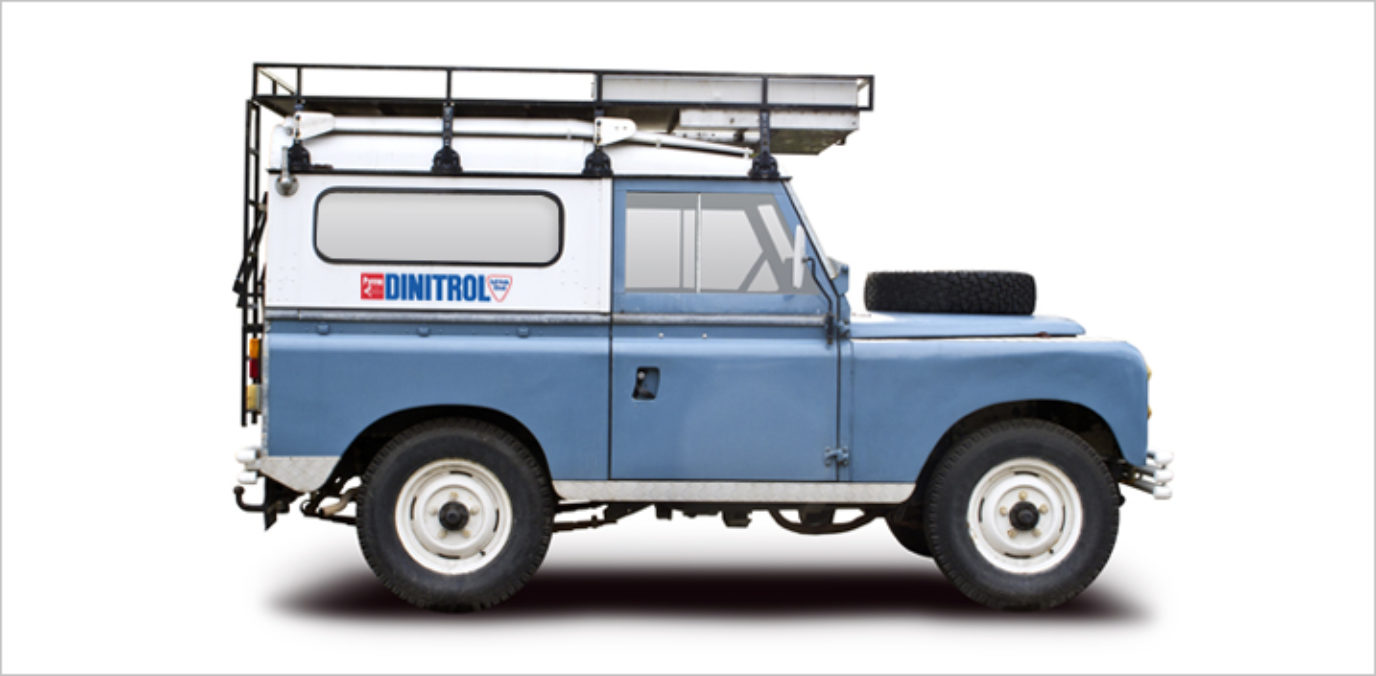 Landrover defender DINITROL underbody chassis rust proofing and rust treatments, cavity waxes
