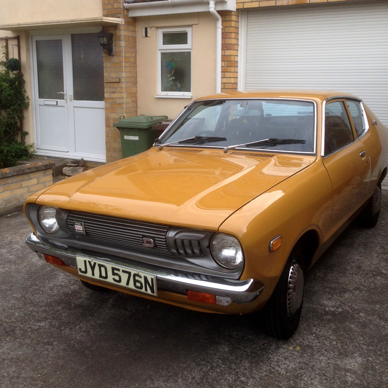 nissan sunny Datsun 120Y cornwall glastonbury japanese classic car restoration maintenance rust proofing underseal protection