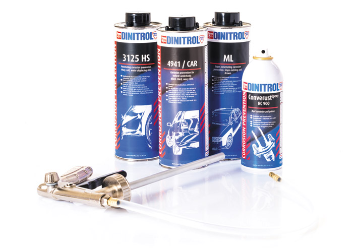 DINITROL car restoration rust proofing kits find a local DINITROL supplier, underbody coating gun application RC900 dinitrol UK
