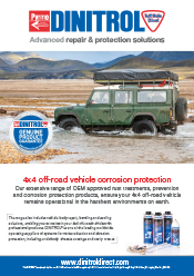 DINITROL official UK treatment centres for 4x4 off road vehicles, landrover, range rover, land rover defender, underbody rust proofing corrosion protection, rust prevention and rust convertors