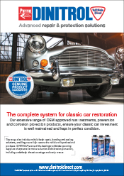 DINITROL official UK treatment centres for classic cars restoration underbody corrosion protection coatings, rust prevention and rust convertors with rust proofing, body repair and cavity waxes