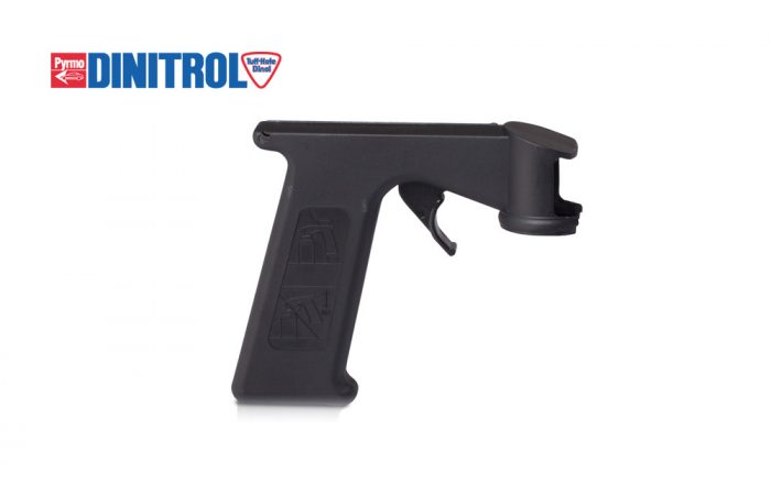 Aerosol trigger attachment for dinitrol rustproofing treatment applications vehicle corrosion underbody