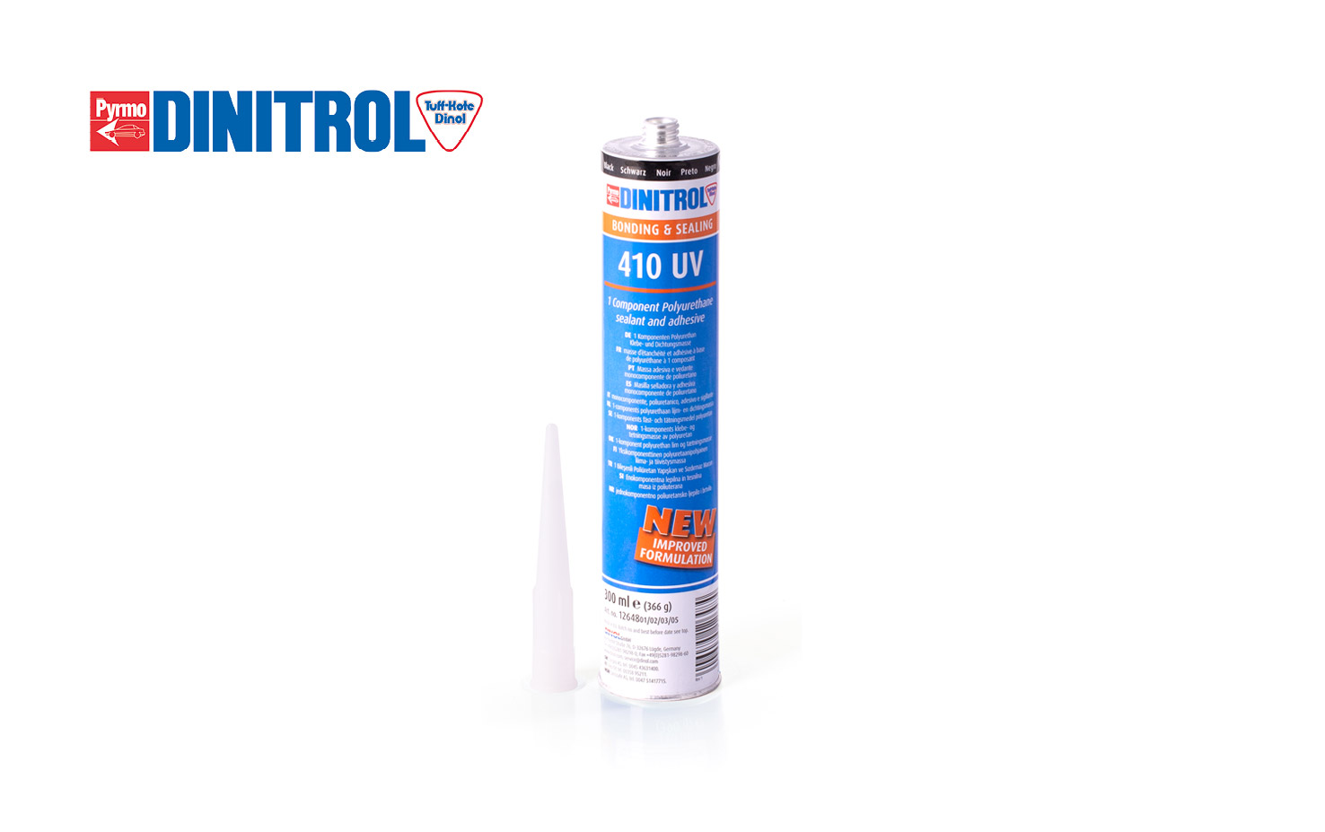 DINITROL 410 UV polyurethane adhesive Corrosion Protection Rust Treatment Windscreen Replacement Body Repair Bonding Sealing Products UK black