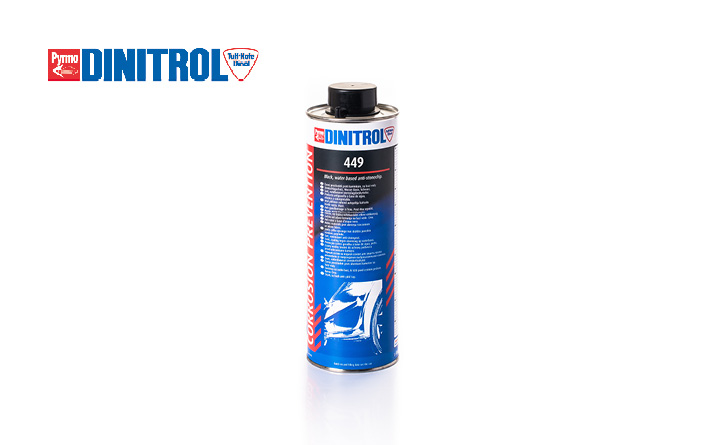 Car underseal DINITROL 449 underbody chassis coating provides good stone chip resistance and sound deadening properties