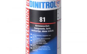 DINITROL 81 protect metal finished surfaces storage transit protect steel corrosion protection coating tooling vehicles engines equipment uk