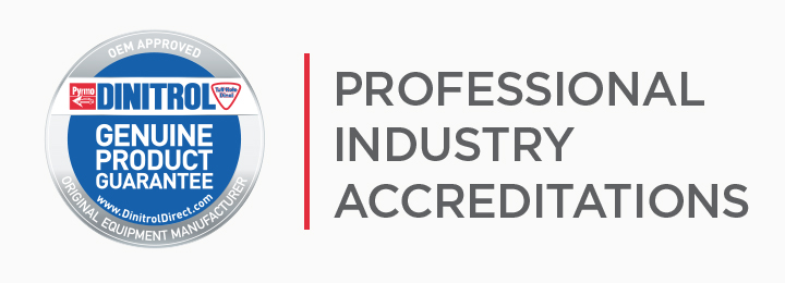 OEM approved accreditations for corrosion resistance, windscreen direct glazing adhesives bonding and sealants vehicle body repair