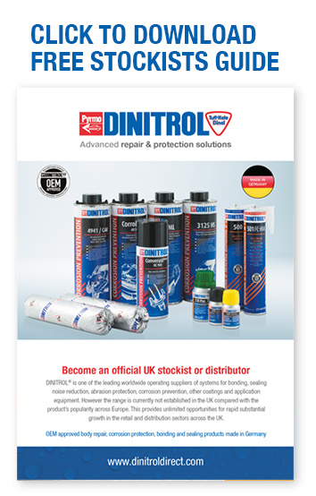 DINITROL Direct aftermarket products, motor factors automotive OEM approved corrosion protection and windscreen adhesive solutions direct glazing