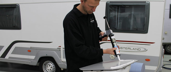 corrosion protection, repair, bonding, sealants for Fendt, Dethleffs, Burstner, Carthago, Pilote and Hymer motorhomes and caravans