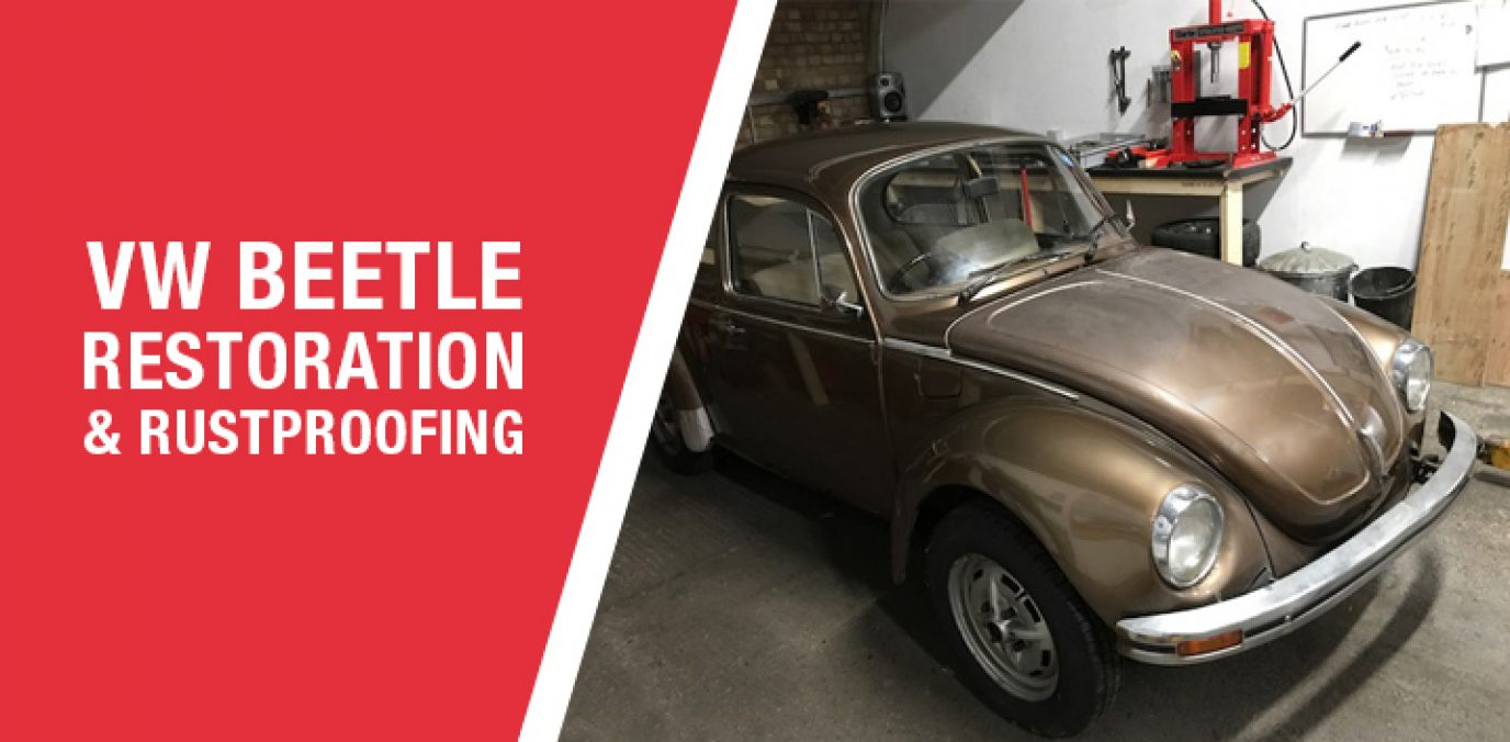 classic VW beetle for sale VW beetle restoration rust prevention rustproofing coatings retro volkswagen VW-restoration