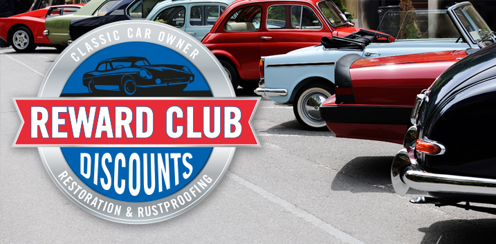 classic car club rust prevention rustproofing kits dinitrol uk classic car club members dinitrol rewards special offers