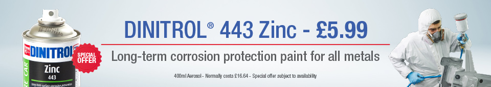 dinitrol 443 zinc paint primer corrosion protection metal car auto repair refinish bodywork damage repair panels oem approved uk classic car