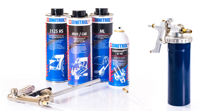 DINITROL vehicle rustproofing equipment for corrosion prevention underbody chassis coating landrover, classic cars, commercical vehicles and cars