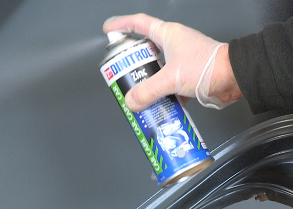 dinitrol zinc paint primer corrosion protection long term classic car restoration rust prevention video application demonstration uk