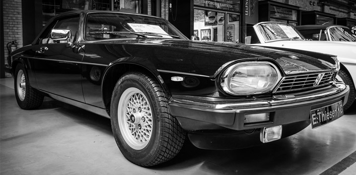 Jaguar car rust proofing XJ-S sports car Le Mans race winner monocoque design Geneva car show engine preservation uk