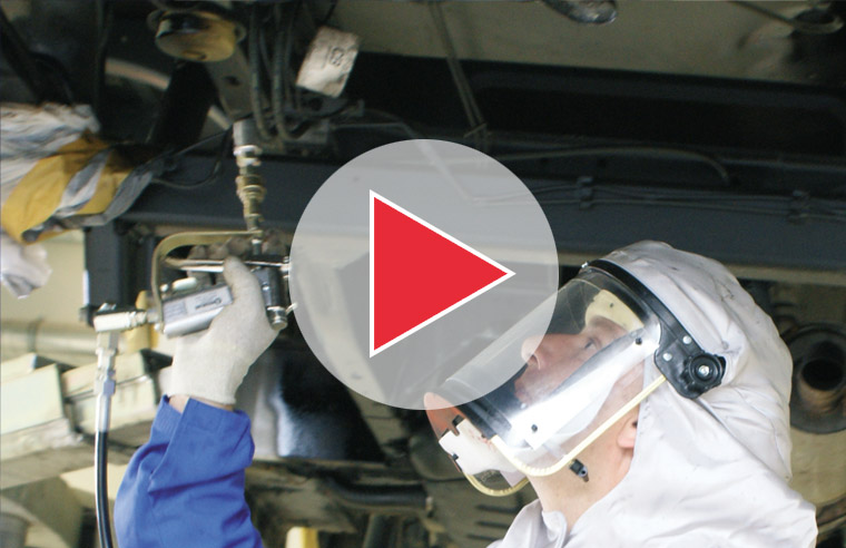 oem product application video guide for corrosion protection rustproofing underseal chassis coating rust prevention commercial vehicles
