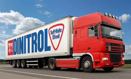 Track your DINITROL product delivery for car body repair, bonding and sealing, auto windscreen replacement adhesives, commercial vehicle cavity waxes and underbody chassis coatings for car rust prevention