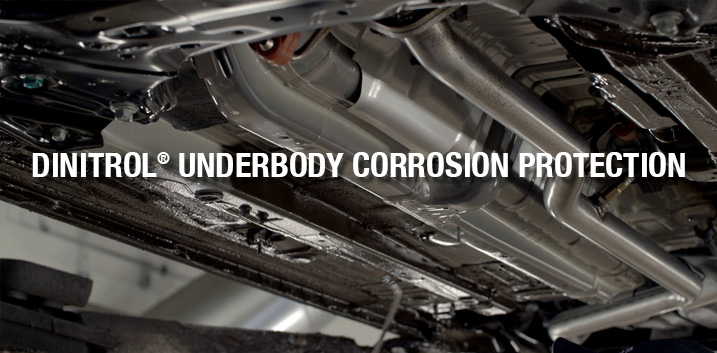 rust prevention corrosion protection dinitrol 4941 car underbody bitumen chassis coating underseal penetrating cavity wax dinitrol 3125 HS coating