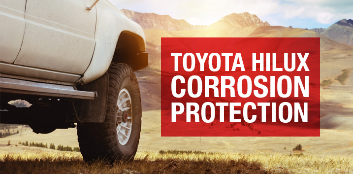 toyota hilux 4x4 corrosion protection unsderseal undebody waxes dinitrol 4941 prevent rust perforations chassis anti stone paint
