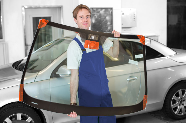 Auto windscreen replacement direct glazing applications DINITROL Treatment Centres, windshield replacement